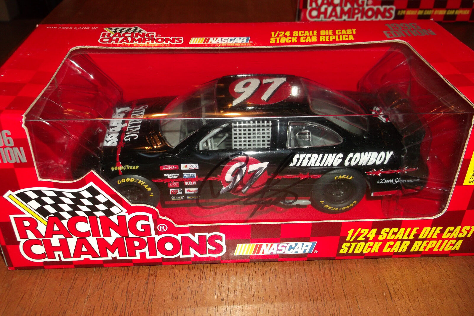CHAD LITTLE AUTOGRAPHED STERLING COWBOY 1 24 SCALE RACING CHAMPIONS 1996 (46