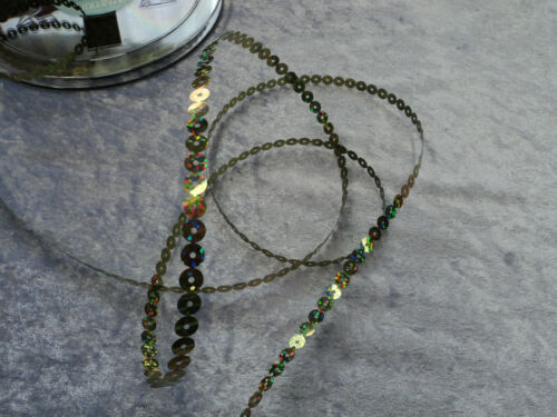 5 Metres of Chain Sequins ~ 7mm Round ~ Gold or Silver