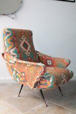 Gio Ponti armchair 1950s design Italiano, brass legs