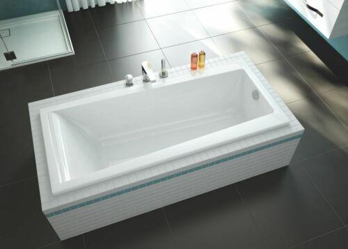 Acryl-Badewanne im Komplettset weiß 150 x 75 inklusive  Ablauf Badewanne