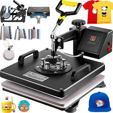 8 In 1 Heat Press Machine 15x15 Combo Kit Transfer Sublimation For T Shirts