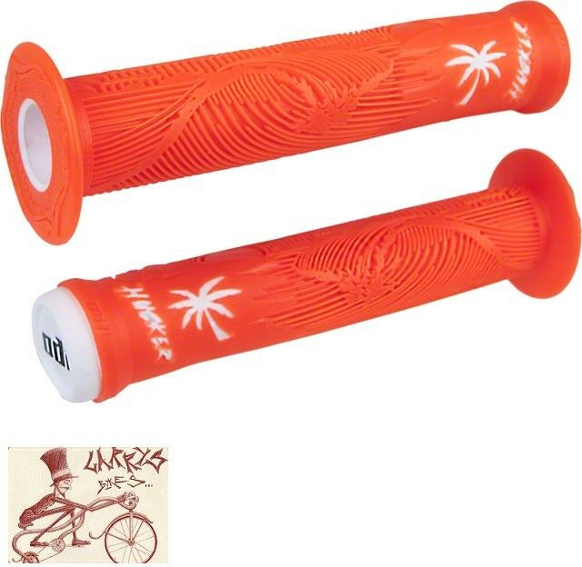 ODI LONGNECK XL BLACK FLANGED BMX BICYCLE SCOOTER FIXED GRIPS