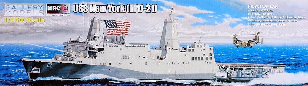 MRC Gallery Models Uss   u. S. S. New York (Lpd-21) 1 3 50 Kit 64007 Ship