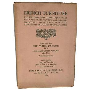 Vintage 1965 Auction Catalog Parke Bernet Galleries French Furniture Bibelots Ebay