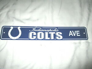 INDIANA STATE SHAPED SIGN #01 INDIANAPOLIS COLTS NEW