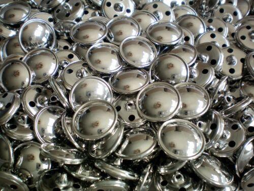 XM75A-D 15mm 18mm 20mm 22mm Silver Effect Metal Shank Coat Lightweight Buttons