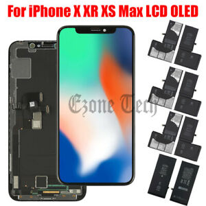For iPhone X XR XS Max LCD OLED Touch Screen Digitizer Replacement / Battery Lot
