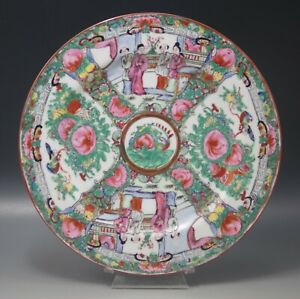 VINTAGE-CHINESE-ROSE-MEDALLION-PLATE-FAMILLE-ROSE