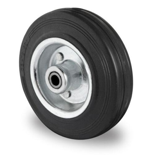 Transportgeräterolle 200 mm Gummi Platte Transportrolle Lenkrolle Rolle
