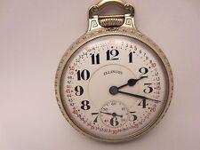 1929 Illinois 21J Pocket Watch Bunn Special 60 hr 14k GF 16s Running 50 mm RR
