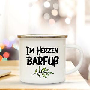 Tassen Büro & Schreibwaren Gewissenhaft Emaillebecher Kaffeetasse Tasse Spruch Im Herzen Barfuß Campingtasse Eb243
