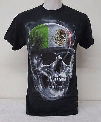 Mexican Skull  Baseball Hat Black Color Men's Short Sleeve T-Shirt