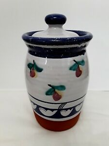 DAMARISCOTTA-POTTERY-MAINE-JAR-CANISTER-BEAUTIFUL-COLLECTORS-ITEM