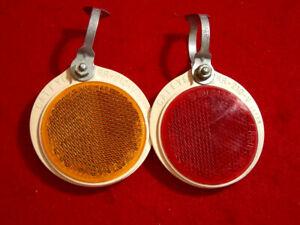 Cateye-Wheel-Reflector-Set-RR-210-V-Red-Amber-Japan-Used