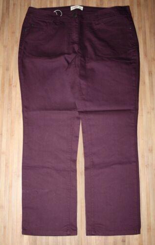 STRETCH-HOSE aubergine ~ beere LANG-Gr.104//52 108//54 112//56 116//58 NEU