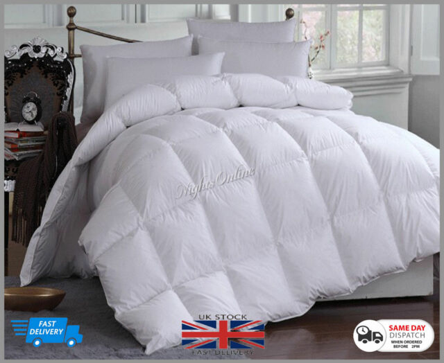 New King Bed Size 9 Tog 100/% White Duck Feather Duvet Quilt