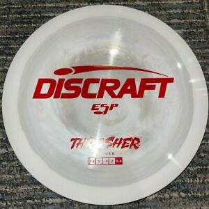 DISCRAFT ESP THRASHER SWIRLY DISC GOLF DRIVER 170-2G GREY / RED @ LSDISCS