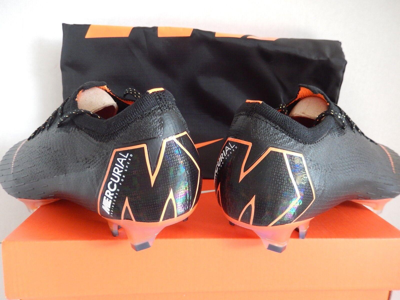 nike vapor 12 sz elite fg black-total orange-white sz 12 7 [ah7380-081] 868e66