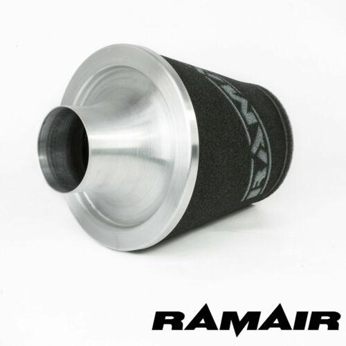 Ramair Silver Medium Aluminium Induction Air Filter Universal 70Mm Od Neck