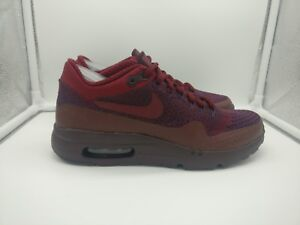 Nike-Air-Max-1-Ultra-Flyknit-UK-5-5-Grand-Violet-equipe-Rouge-856958-566