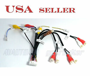 pioneer 24pin rca audio video wire harness for avic f900bt avic image is loading pioneer 24pin rca audio video wire harness for