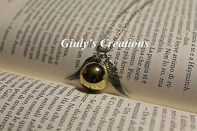 Collana Boccino D'Oro di Harry Potter apribile lucido specchiato porta foto HP