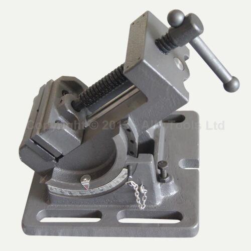 4021633 75MM 3 Pilier Perceuse Machine Etau Inclinable Fraisage Pour Acier
