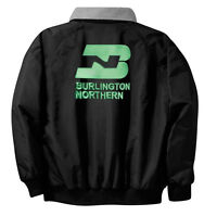 Burlington Northern Embroidered Jacket Front And Rear [46r]