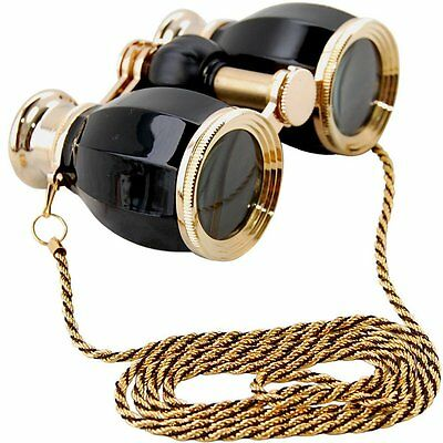 HQRP 4x25 Opera Glasses Antique Style Theater Binocular Crystal Clear Optic CCO