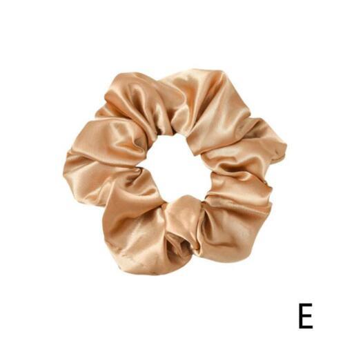 Satin Silk Hair Tie Elastic Scrunchies Ponytail Holder Hair Rope Rings Women
