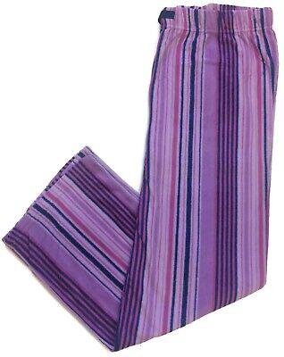 Great Northwest Fleece Pajama Pants Lounge Pants Sleep Womens Lavender Striped