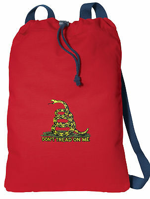 DONt Tread On Me Drawstring Bag Travel Daypack