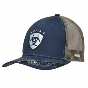 d48add21a Details about Ariat Men's Navy and Tan Ball Cap