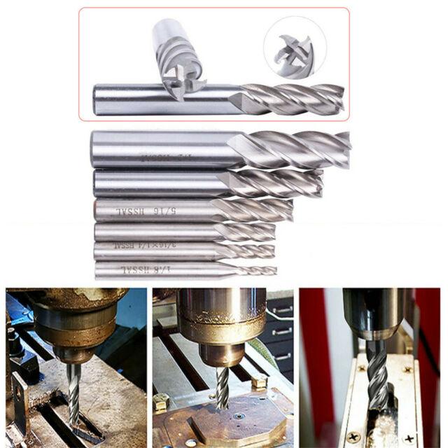 10pcs Extra Long 4mm Four Flute HSS End Mill Cutter CNC Bit Extended lengthening