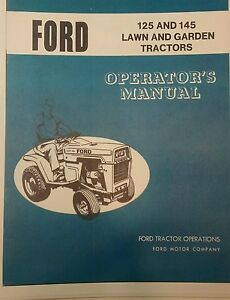 ford lgt  lgt  lawn garden tractor owners manual