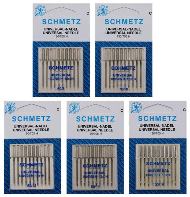 5 Schmetz Overlock-Nadeln Stärke 80-90 für Elna L1 L2 L4 L5 F3 F4 Pro4 Pro5 uvm.