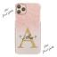 miniatura 14 - Telefono Personalizzato Custodia Per IPHONE 12/PRO/11/MAX iniziale ROSA MARMO Cover Rigida