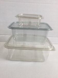 Plastic-Hinged-Containers-Food-Salad-Fruit-250cc-x-50-Square