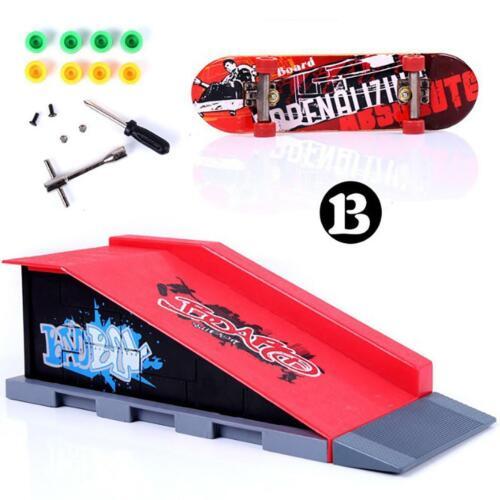Skate Park Ramp Parts for Tech Deck Fingerboard Finger Board Ultimate Parks Sets