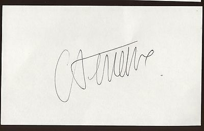 Autographs-original Catherine Deneuve Signed Index Card Signature Autographed Auto