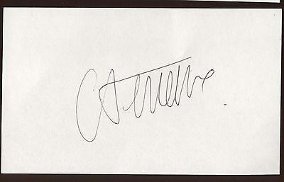 Catherine Deneuve Signed Index Card Signature Autographed Auto Cards & Papers