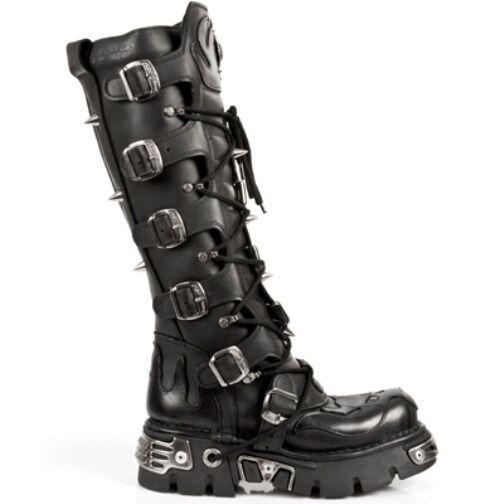 NEW ROCK Unisex Punk Boots Boots Boots Style M.161 S1 Black Reactor ecc328