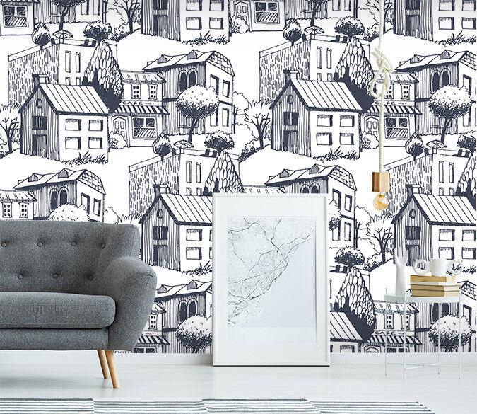 3D House City 753 Wall Paper Murals Wall Print Wall Wallpaper Mural AU Summer