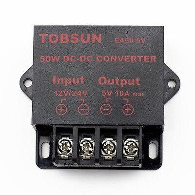 SUPERNIGHT™ 50W DC to DC 12V~24V to 5V 10A Converter Step Down Regulator Module