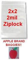 5000 Apple Brand Baggies 2x2 2mil Clear Ziplock Bags 5,000 2 2020 2x2 2 Bag