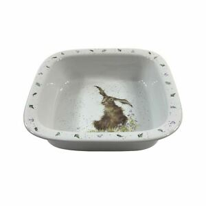 BOXED-WRENDALE-LUXURY-KITCHEN-FINE-PORCELAIN-CHINA-COUNTRY-HARE-10-034-SQUARE-DISH
