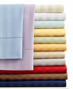 ATTACHED WATERBED SHEET SET ALL STRIPED COLORS & SIZES 1000 TC EGYPTIAN COTTON