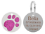 Personalised-Engraved-Round-Glitter-Paw-Print-Dog-Cat-Pet-ID-Tag-Small-Large thumbnail 16