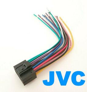 JVC-Autoradio-Kabel-Adapter-Stecker-DIN-ISO-16-Pin-Kabelbaum-offene-Enden