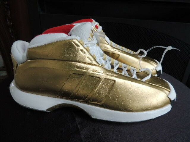 Mens Size 12 Gold * ADIDAS * CRAZY 1 Kobe Basketball Shoes NWT Extra Laces